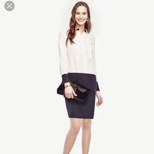 Ann Taylor Size 2 Colorblock Shirtdress $139.00